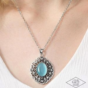 "Heart Of Glace"" - Blue Moonstone Silver Necklace"